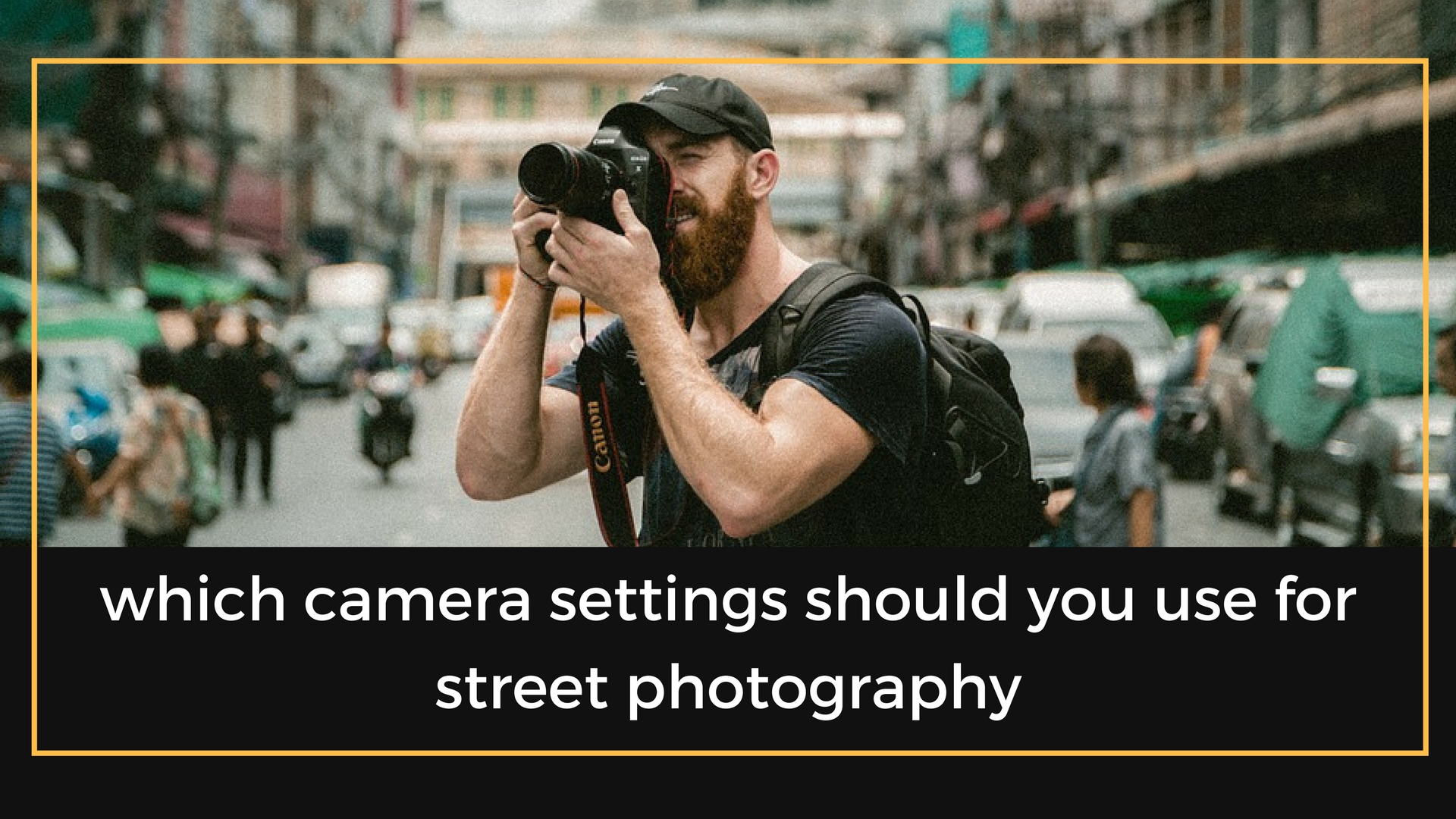 Which camera settings should you use for street photography the professional photographer